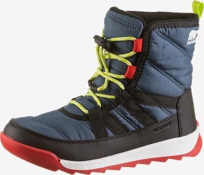 SOREL Outdoorschuh 'YOUTH WHITNEY II WP' in dunkelblau / neongelb / rot / schwarz / weiß, Produktansicht
