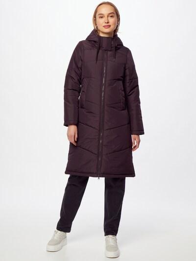 Iriedaily Winter Coat 'Paddie' in Aubergine, View model