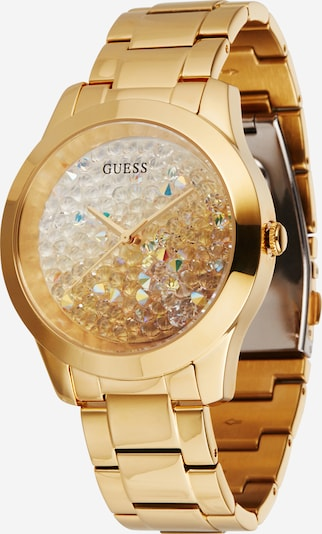 GUESS Analog watch 'LADIES TREND' in gold / transparent, Item view