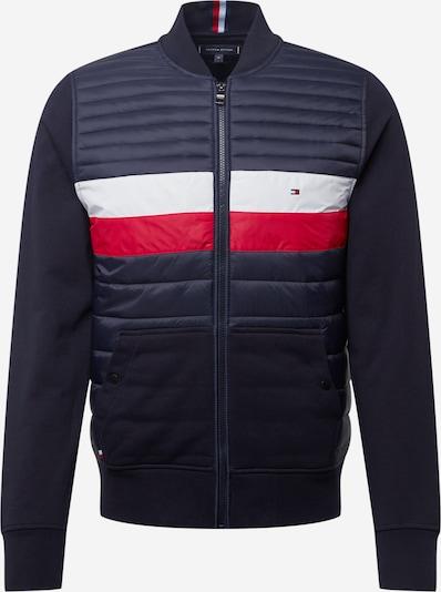 TOMMY HILFIGER Tepláková bunda - tmavomodrá / červená / biela, Produkt