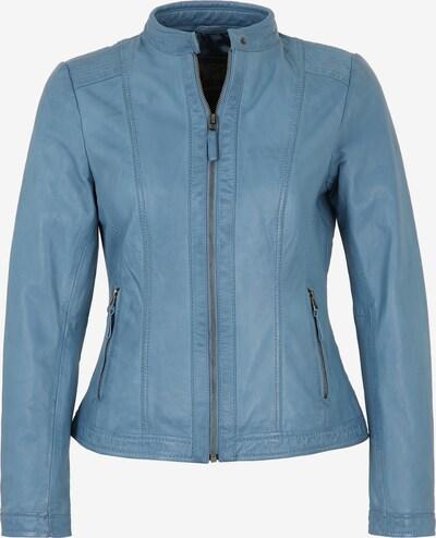 7ELEVEN Lederjacke 'RESI' in blau, Produktansicht