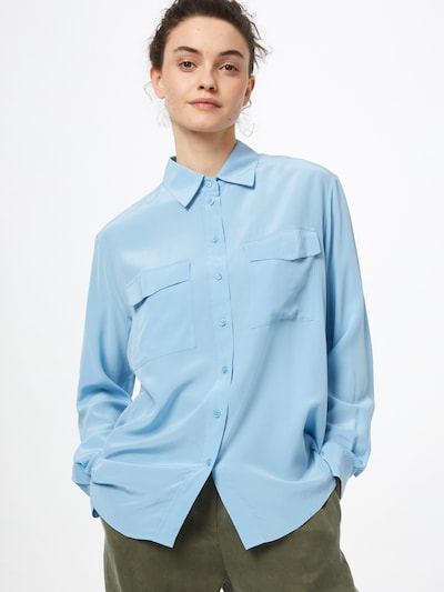 BOSS Casual Blouse 'Biventi' in de kleur Lichtblauw, Modelweergave