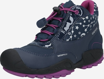 GEOX Kids Winterboots 'New Savage' in navy / rosa / schwarz / weiß, Produktansicht