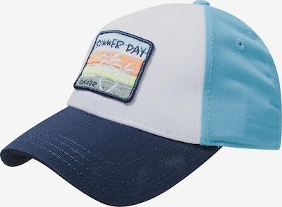 s.Oliver Hoed in de kleur Navy / Hemelsblauw / Gemengde kleuren / Wit, Productweergave