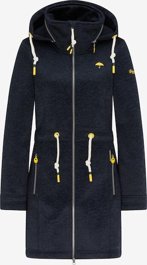 Schmuddelwedda Gebreide mantel in de kleur Donkerblauw / Geel, Productweergave