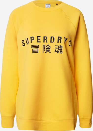 Superdry Sportief sweatshirt in de kleur Geel, Productweergave