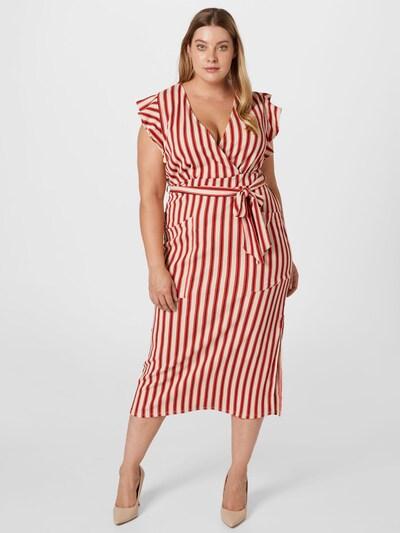 River Island Plus Kleid in feuerrot / schwarz / weiß, Modelansicht