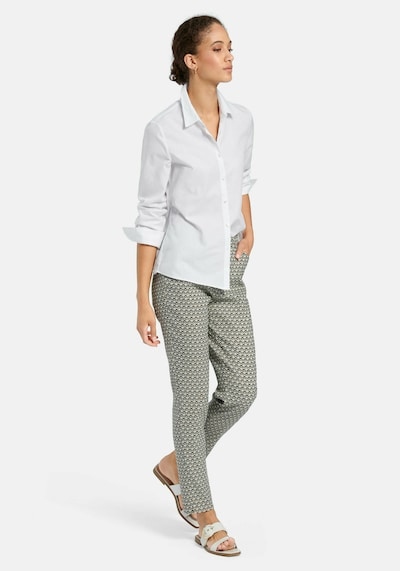 Peter Hahn Langarmbluse Bluse in weiß, Modelansicht
