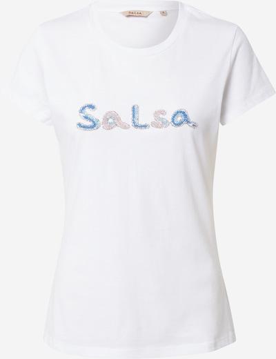 Salsa T-shirt en bleu ciel / rose / argent / blanc cassé, Vue avec produit