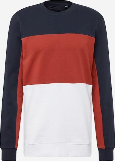 Only & Sons Sweat-shirt 'FABIAN' en bleu marine / rouge rouille / blanc, Vue avec produit