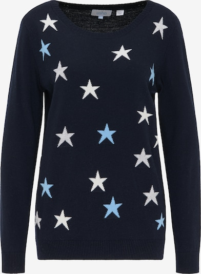 usha BLUE LABEL Pullover in nachtblau / hellblau / hellgrau / weiß, Produktansicht