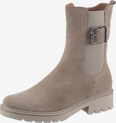 GABOR Chelsea Boots in Beige: Frontal view