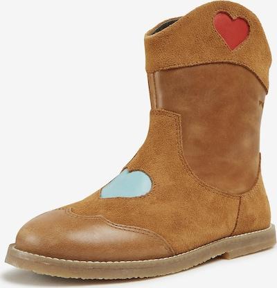 CAMPER Stiefel 'Twins' in camel / pastellblau / rot, Produktansicht