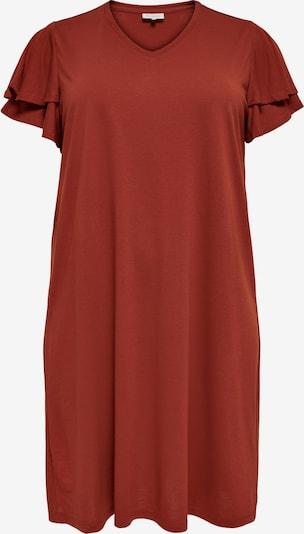 ONLY Carmakoma Kleid 'Gila' in rostbraun, Produktansicht