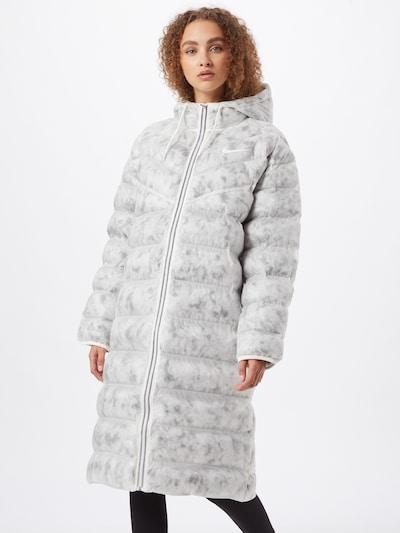 NIKE Функционално палто в светлосиво / бяло, Преглед на модела