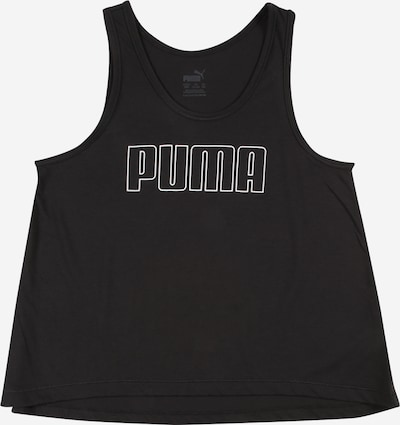Sport top PUMA pe negru / alb, Vizualizare produs