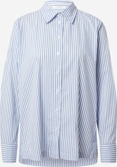 Bluză 'Feorgia' OPUS pe albastru fum / alb: Privire frontală