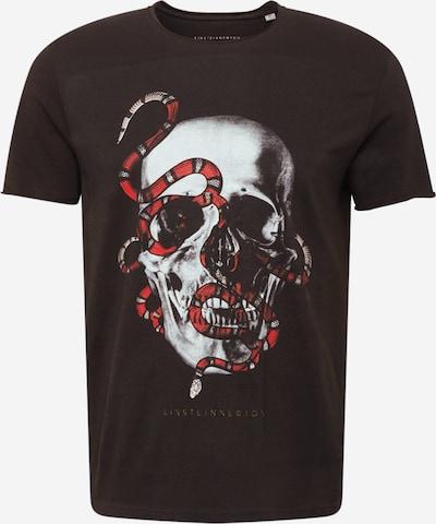 Tricou 'Lux Skull' EINSTEIN & NEWTON pe gri deschis / roșu / negru, Vizualizare produs