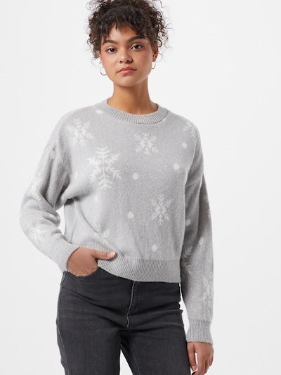 Miss Selfridge Pullover in hellgrau / silber / weiß, Modelansicht