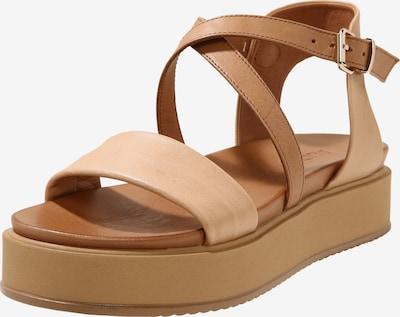 INUOVO Sandale in beige / hellbraun: Frontalansicht