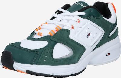 Tommy Jeans Sneaker 'Heritage' in grau / dunkelgrün / orange / schwarz / weiß, Produktansicht