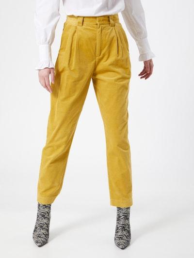 Noa Noa Broek in de kleur Mosterd, Modelweergave