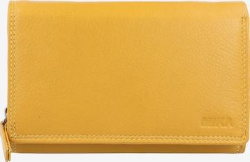 MIKA Geldbörse Leder 15 cm in Gelb