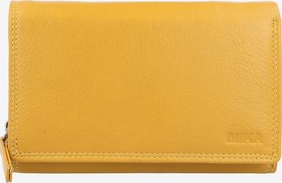 MIKA Geldbörse Leder 15 cm in gelb, Produktansicht