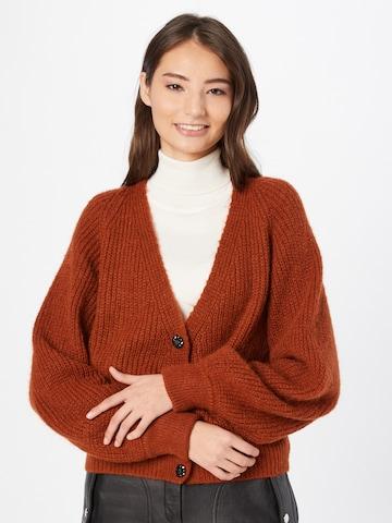 Fabienne Chapot Knit Cardigan 'Starry' in Brown
