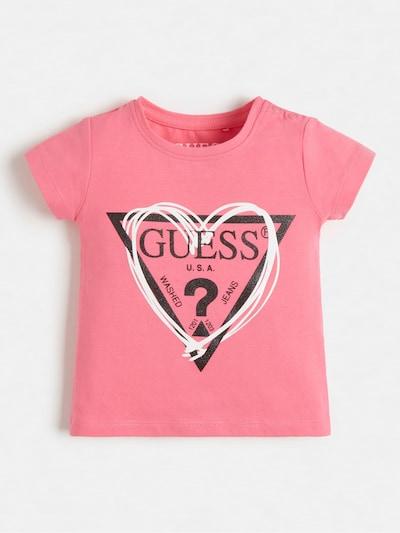 GUESS KIDS Shirt in pink / schwarz / weiß, Produktansicht