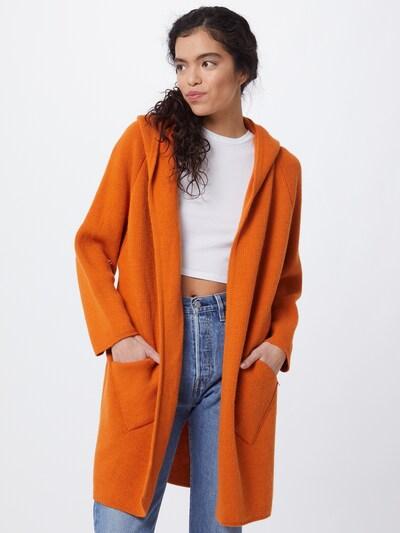 Ilgas kardiganas 'Annabell' iš Zwillingsherz , spalva - tamsiai oranžinė, Modelio vaizdas