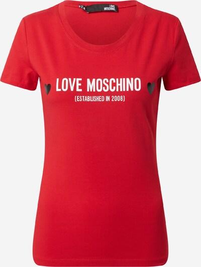 Love Moschino Тениска в червено / черно / бяло, Преглед на продукта
