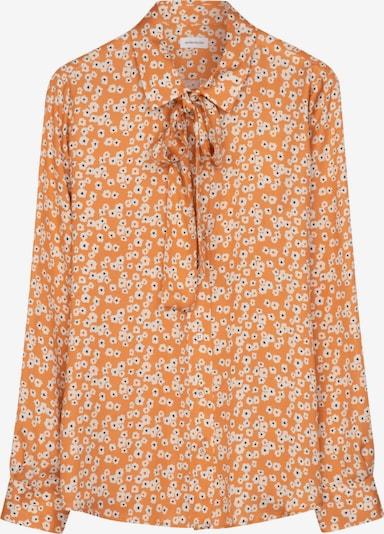 SEIDENSTICKER Schluppenbluse ' Schwarze Rose ' in orange, Produktansicht