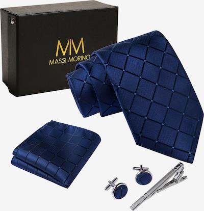 Massi Morino Krawatte Set in dunkelblau, Produktansicht