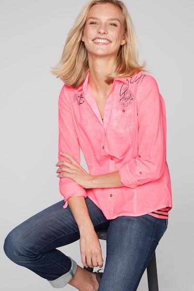 Soccx 2-in-1 Langarmbluse mit Top in rosa, Modelansicht