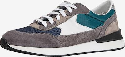 INUOVO Sneaker in blau / grau / dunkelgrün / weiß, Produktansicht