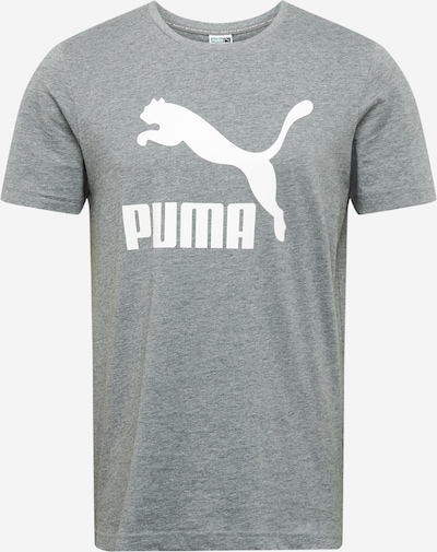 PUMA T-Shirt in graumeliert / weiß, Produktansicht