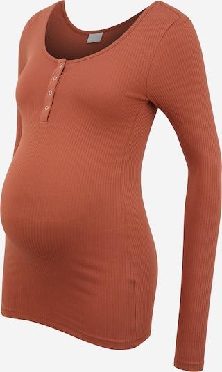 Pieces Maternity T-shirt 'Kitte' en rouille, Vue avec produit
