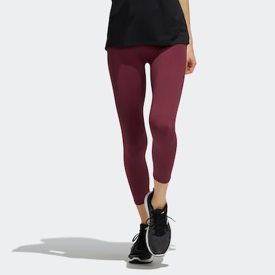 ADIDAS PERFORMANCE Workout Pants in Wine red / Black, View model