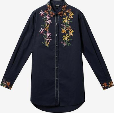 Bluză Desigual pe bleumarin / galben / verde închis / roz deschis, Vizualizare produs