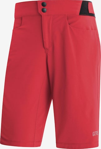 GORE WEAR Workout Pants 'Passion' in Red