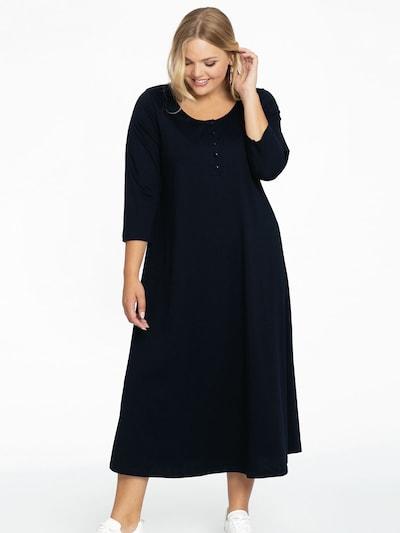 Yoek Kleid in dunkelblau, Modelansicht
