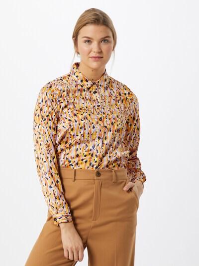 JACQUELINE de YONG Bluza 'Fifi'   mornarska / zlato-rumena / majnica / temno oranžna / bela barva, Prikaz modela