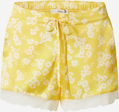Pižaminės kelnės 'NEMY' iš ETAM, spalva – geltona / balta, Prekių apžvalga