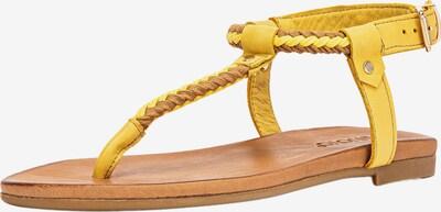 INUOVO Zehentrenner in gelb, Produktansicht