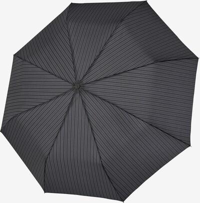 Doppler Regenschirm in grau / schwarz, Produktansicht