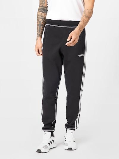ADIDAS ORIGINALS Pantalon en noir / blanc, Vue avec modèle