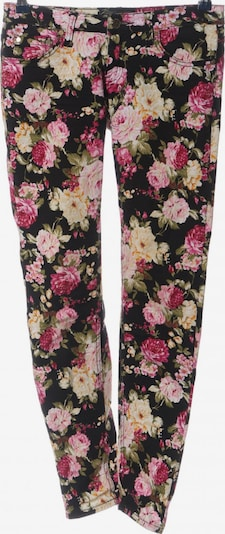 MISS ANNA Five-Pocket-Hose in S in creme / pink / schwarz, Produktansicht