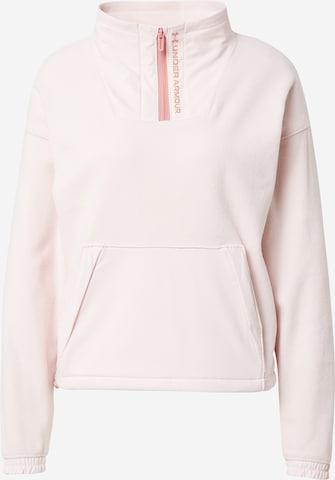 UNDER ARMOUR Sportfleeceshirt 'RUSH' in Pink
