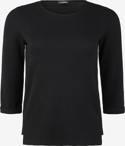 Doris Streich Pullover mit Krempelärmel in schwarz, Produktansicht